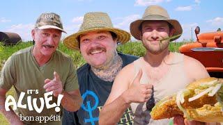 Brad and Matty Matheson Go Noodling for Catfish Part 2 | It's Alive | Bon Appétit