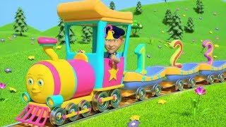 Numbers Train | Preschool Learning Videos | Nursery Rhymes for Kids | Cartoons by Little Treehouse