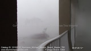 Category 5 Hurricane Michael Far Western Mexico Beach, FL Eye Wall - 10/10/2018