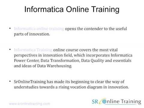 Best Online Informatica Training by sronlinetraining