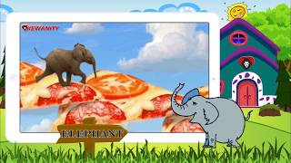 ❤ Learning Animals Names and Sounds for kids    ELEPHANT