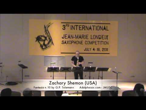 3rd JMLISC: Zachary Shemon (USA) Fantasia n.10 by G.P. Telemann