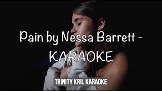 Pain by Nessa Barrett - acoustic KARAOKE with LYRICS | instrumental / backing track | (HIGH QUALITY)