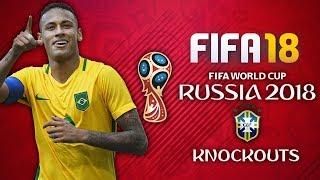 BRAZIL WORLD CUP FINAL DREAM!! BRAZIL WORLD CUP PLAY THROUGH!! FIFA 18 World Cup Mode