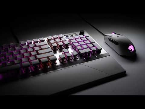 Turtle Beach's Hamburg, Germany-based ROCCAT shows off the latest Kain PC gaming mice, Vulcan keyboards, Sense mousepads and more at gamescom 2019.