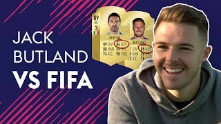 BUTLAND REACTS TO HAVING BETTER REFLEXES THAN BUFFON! | JACK BUTLAND VS FIFA 🔥🔥🔥