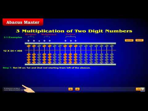 Multiplication on Abacus www.AbacusMaster.com