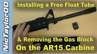 AR15 A2 Front Sight & Gas Block Removal for a Free Float Tube Install - PART 1