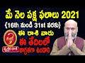 May Rasi Phalalu   16th May to 31st May   Vruschika Rashi 2021   Nanaji Patnaik   Pooja Tv Telugu