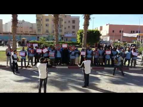 احتجاج باعة جائلون بتيزنيت