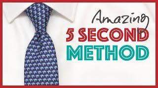 How to Tie a Tie - Amazing 5 Second Method (Super Easy Trick)