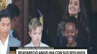 Reapareció Angelina junto a sus seis hijos - Telefe Noticias