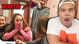 KID GETS REJECTED BY THEIR CRUSH!! (REACTING TO CRINGE REJECTIONS)