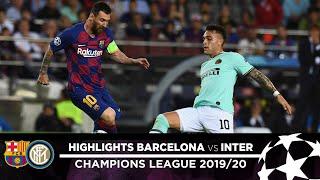 BARCELONA 2-1 INTER | HIGHLIGHTS | Matchday 02 - UEFA Champions League 2019/20