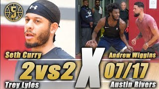 NBA 2v2 Andrew Wiggins and Seth Curry vs Austin Rivers and Trey Lyles
