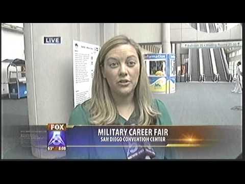 MILITARY CAREER FAIR  KSWB TV  6/19/13 8am
