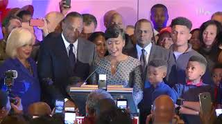 WATCH: Keisha Lance Bottoms claims victory in election night speech to supporters