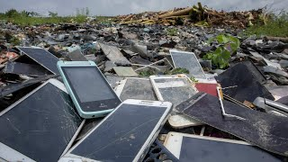 Look for old touch phone in LCD trash can || Restoration old touch Phone