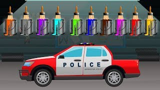 Police Pickup Truck   Colors for Kids to Learn   Learning Video