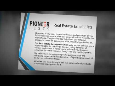 Real Estate Email Lists - Pioneer Lists