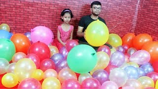 """Funny 100 Balloons Playing "" 