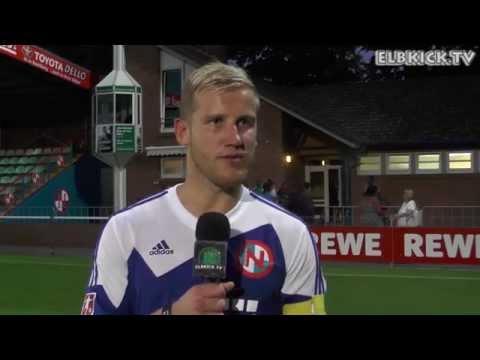 Jan-Philipp Rose (FC Eintracht Norderstedt) und Frank Ngoue (Trainer NCG FC) - Die Stimmen zum Spiel (FC Eintracht Norderstedt - NCG FC,1. Runde ODDSET-Pokal) | ELBKICK.TV