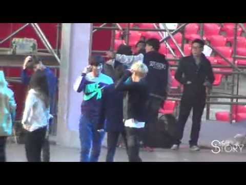【STORY】20131019 SMTOWN IN BEIJING 合作舞台彩排 - Dance battle rehearsal - Yunho ♥
