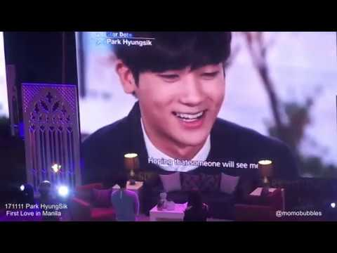 171111 Park HyungSik  First Love in Manila - Filipino fans tribute video