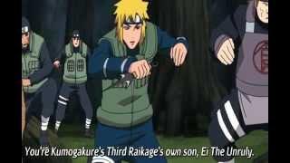 Minato Vs Raikage and Killer Bee FullFight (EnglishSUB)