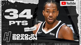 Kawhi Leonard 34 Points Full Highlights - Thunder vs Clippers   January 24, 2021