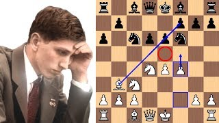 Bobby Fischer wins with the Fischer-Sozin Attack in 17 moves