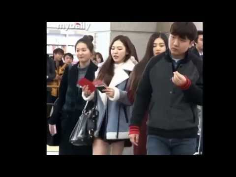 150114 RED VELVET SeulRene Moment @ Incheon Airport