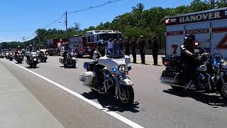 Funeral Procession for Weymouth Police Officer Michael Chesna (Motorcycles)