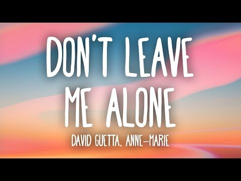 Don't Leave Me Alone (feat. Anne-Marie)