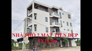 Nhà phố mặt tiền 5m, 2 mặt tiền, kích thước 5x18,5m, đẹp tại thành phố Ninh Bình