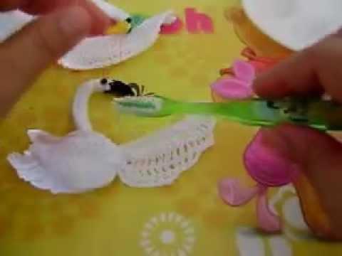 ALMIDONANDO CISNES TEJIDOS EN CROCHET | VideoMoviles.com