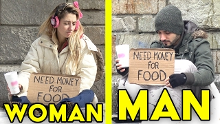 GUYS vs GIRLS Homeless Experiment | Who will you help?