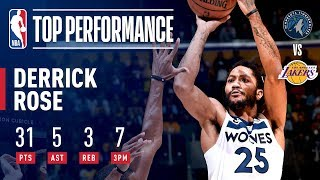 Derrick Rose Drops 31 And A CAREER HIGH 7 3-Pointers In Los Angeles   November 7, 2018