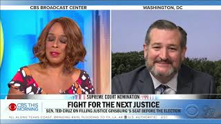 Cruz on CBS: It Is Critically Important We Confirm a Supreme Court Justice Before Election Day