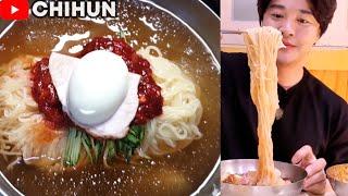 COLD NOODLES + SPICY NOODLES + DUMPLING MUKBANG | KOREAN FOOD RESTAURANT IN BUSAN EATING SHOW