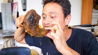 MEAT TRUMPET and Rare Dishes in Sri Lanka | Sri Lankan Food in Kandy, Sri Lanka!