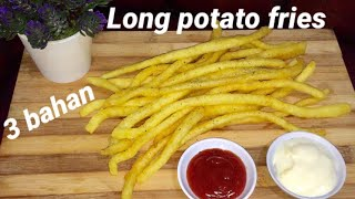 cuma 3 bahan buat long potato fries Tanpa alat