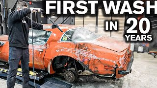 Dirtiest Car Ever! First Wash in 20 Years Lost Pontiac Trans Am Rare 455 HO