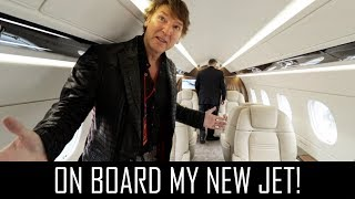 On board my new jet!