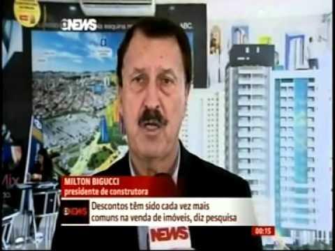 Bigucci fala à GloboNews sobre os descontos no mercado imobiliário