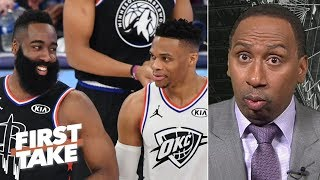 Westbrook and Harden are both ball hogs, but the Rockets made a good move - Stephen A. | First Take