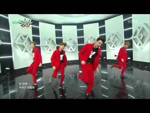 [HIT] 뮤직뱅크 - 엑소 EXO, 빨간색 슈트로 폭풍 카리스마…'콜 미 베이비'. 20150410