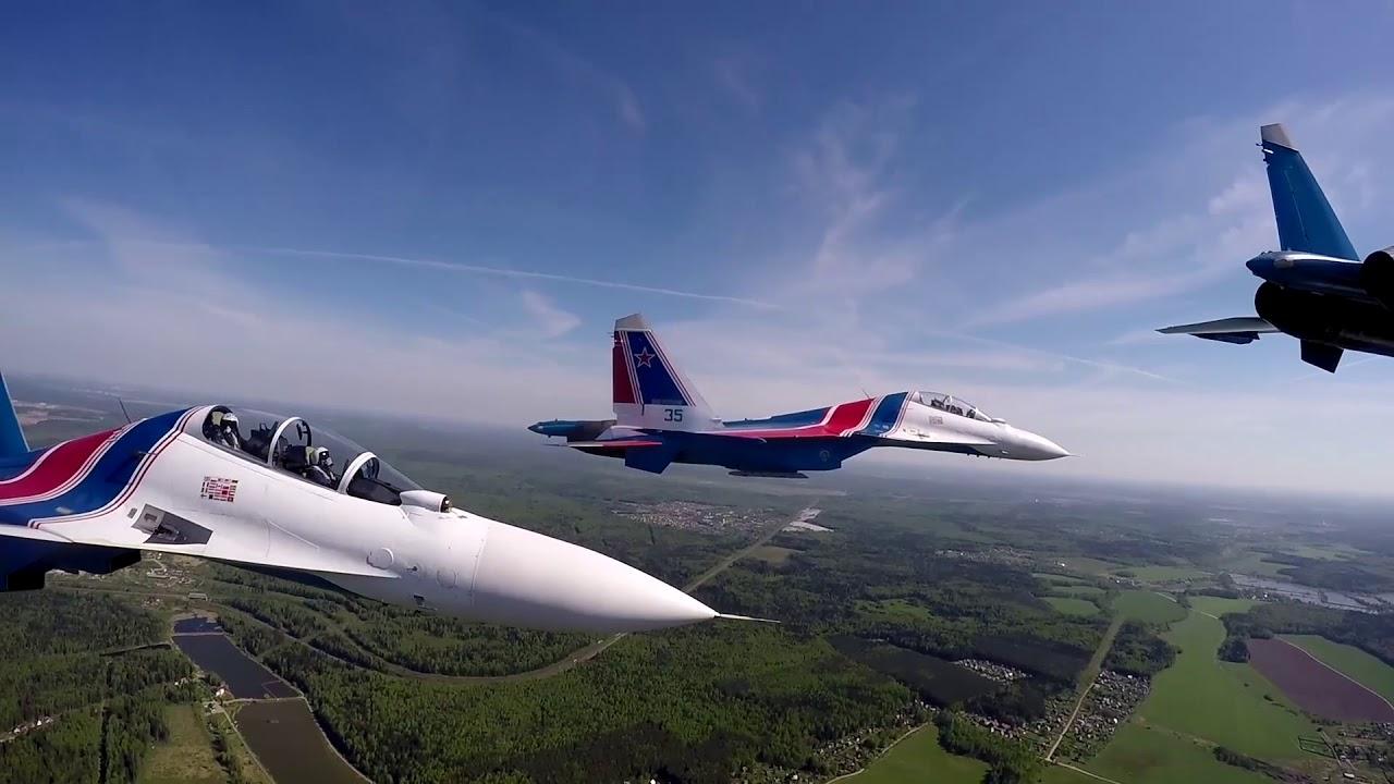 Пилотажная авиагруппа «Русские витязи» отмечает 29-летие