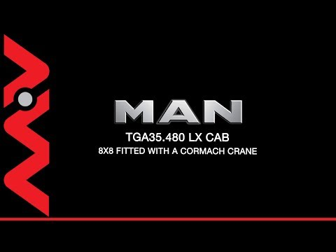 MAN TGA 35480 LX CAB 8x8 TRUCK CORMACH CRANE
