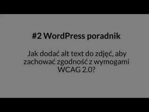 Jak dodać alt text do zdjęć na stronie internetowej, aby zachować wymogi dostępności WCAG 2.0?
